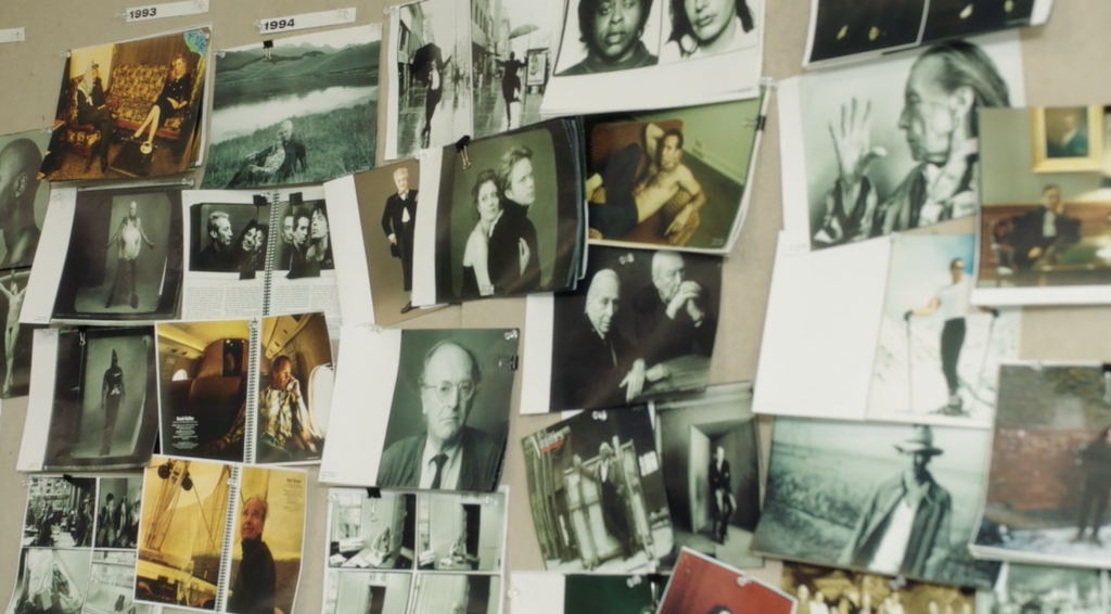 Annie Leibovitz photos on a wall from her MasterClass