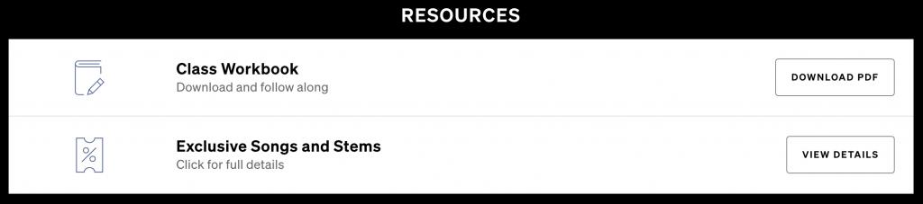 timbaland master class resources