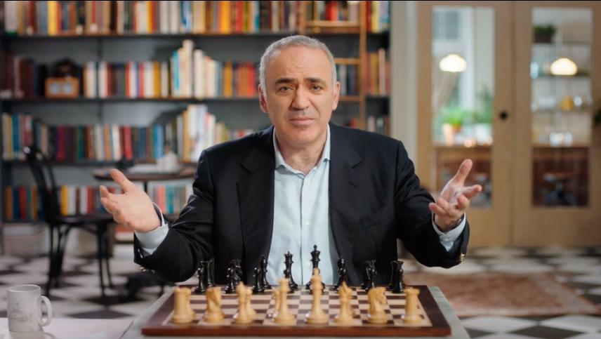 Kasparov at a chess board
